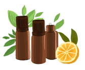 flacons-huiles-essentielles-feuilles-orange